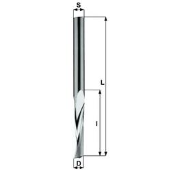 Фрезы Z1 15° ITC верхний рез для раскроя панелей из акрила и пластиков CMT По алюминию, композитам, пластикам Фрезы по дереву